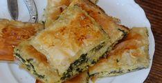 Il byrek è uno dei piatti più classici albanesi. Ecco una variante della ricetta per preparare la torta salata agli spinaci Albanian Recipes, Albanian Food, Ricotta, Spanakopita, Veggies, Cooking, Ethnic Recipes, Pane, Pizza