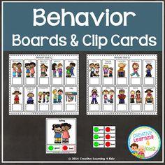 Behavior Clip Cards & Boards ~Digital Download~