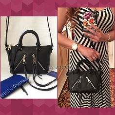 "Authentic Rebecca Minkoff Leather Handbag % AUTHENTIC ✨ Lovely black leather handbag from Rebecca Minkoff  Lightweight & very versatile! Crossbody, shoulder & crossbody Length 9 1/2"" Height 6"" Width 4 1/4"" w/ adjustable long strap. 3 interior pockets. Silver tone hardware. NO TRADE  PRICE IS FIRM ‼️‼️ Rebecca Minkoff Bags"