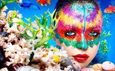 Ayami Nishimura by Rankin at Kentish Town Art Beat, Real Techniques Brushes, Rainbow Face, Make Up Art, Beauty Book, Artists Like, Girl Face, Woman Face, Face Art