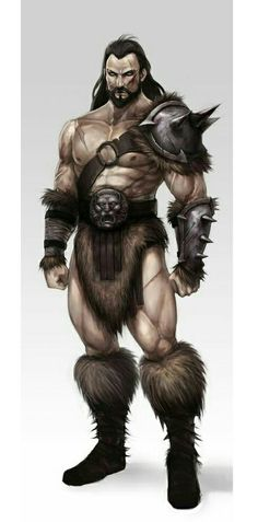Human Barbarian - Pathfinder PFRPG DND D&D d20 fantasy