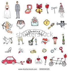 Stock Images similar to ID 68949541 - vector valentine doodles set ...
