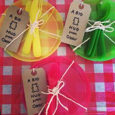 Teddy bears picnic party favours