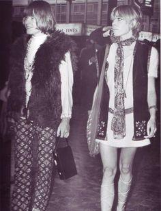 Brian Jones and Suki Potier, sixties fashionistas