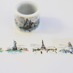 Wide Washi Tape - Travel - Washi Tape- Decorative Tape