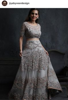 Indian Wedding Outfits, Bridal Outfits, Indian Outfits, Bridal Dresses, Indian Attire, Indian Ethnic Wear, Long Skirt And Top, Long Skirts, Dulhan Dress