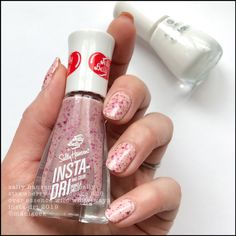 Sally Hansen x Jelly Belly Strawberry Cheesecake nail polish Latest Nail Colours, Nail Colors, Jelly Belly Beans, Jelly Beans, Just Pretend, Nail Polish Collection, Strawberry Cheesecake, My Nails, Glitter Nails