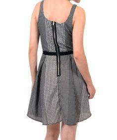 Black & White Polka Dot Sleeveless A-Line Dress | something special every day