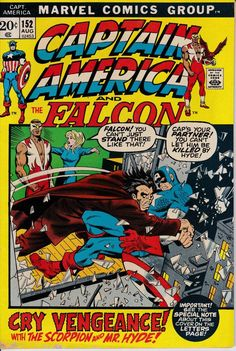 Captain America 152 August 1972 Issue  Marvel by ViewObscura