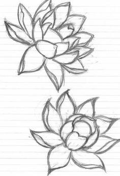 39 Ideas drawing ideas tattoo inspiration lotus flowers for 2019 Flower Drawing Tumblr, Tumblr Drawings, Flower Sketches, Tattoo Design Drawings, Art Drawings Sketches, Drawing Flowers, Drawing Art, Drawing Ideas, Lotus Drawing