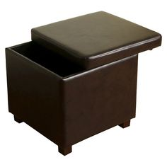 Threshold's Collins Cube Storage Ottoman brings versatile style to your space. This cube ottoman can be used as an extra seat in a pinch or as a sturdy surface for books, trays and remotes.