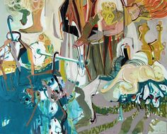 Doucement Elham Etemadi France Painting, Acrylic Size: 51.2 x 63.8 x 1.6 in