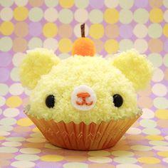 fruit cupcakes   Yellow Fruit Cupcake Bear by amigurumikingdom on deviantART