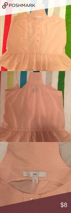 Gap Women's Blush Blouse! 👚 Barely worn, Gap XS blush/light pink blouse. GAP Tops Blouses