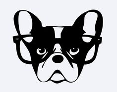 Nerd French Bulldog Hipster Frenchie por alloverthegalaxybee