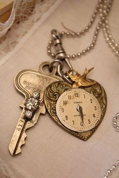 Ana Rosa. (KO) Love the key, heart and clock combination. Very old fashioned and sweet.