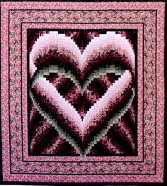 """Melinda's Heart Easy strip construction! This beautiful quilt would make a great wedding gift. 83"""" x 92""""."""