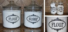 Vinyl Jar Labels- Many Color Options Available!