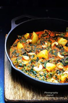 Saag Aloo, spicy, flavourful, delicious and filling dish that will become everyone's favourite too!