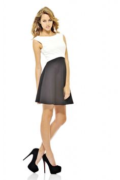Monochrome Fit and Flare Dress
