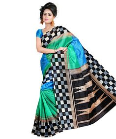 Ethnic Basket Multi Color Bhagalpuri Printed Saree-be80175 | I found an amazing deal at fashionandyou.com and I bet you'll love it too. Check it out!