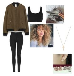 """yezzys"" by alyvinsik on Polyvore featuring adidas Originals, Zara, Topshop and Gucci"