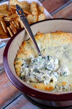 Lighter Spinach Artichoke Dip - RecipeGirl.com