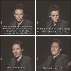 Eddie Redmayne from les mis