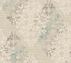 Shop for Matte Champlain Damask Wallpaper, 27 feet long X 27 inchs Wide, Taupe, Blue, and Bone White. Get free delivery On EVERYTHING* Overstock - Your Online Home Improvement Destination! Metallic Wallpaper, Damask Wallpaper, White Wallpaper, Wallpaper Roll, Pattern Wallpaper, Classic Wallpaper, Contemporary Wallpaper, Design Repeats, White Home Decor