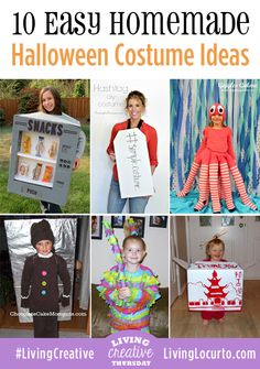 10 Easy homemade Halloween Costumes  #halloween