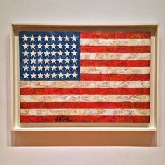 Jasper Johns, Flag (1954). The idea for this painting came to him in a dream. Johns has said that interpreting a recognizable symbol allowed him to focus instead on how he made the painting, using materials like newspaper and encaustic paint.