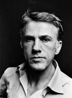 Christoph Waltz, photographed by Jim Rakete Christoph Waltz, Cinema Video, Actrices Hollywood, Black And White Portraits, Interesting Faces, Best Actor, Famous Faces, Belle Photo, Movie Stars