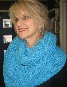 7c1cb98b1 Coziest Ever Infinity Scarf pattern by Heidi Massingill · Knit ...