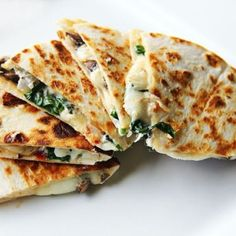 Goat Cheese,Spinach & Mushroom Quesadilla