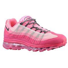 Nike Air Max 95 DYN FW  - Polarized Pink/Pink Force/Sail/Anthracite | Width - B - Medium | Suede/Nylon