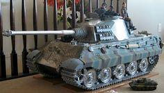 scale King Tiger Tank by Armortek. Tiger Tank, Model Tanks, Armored Fighting Vehicle, Ww2 Tanks, Panzer, Armored Vehicles, Military Art, Scale Models, Military Vehicles