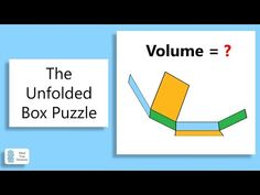 The Unfolded Box Puzzle Geometry Problems, Mathematics, The Creator, Puzzle, Thankful, Letters, Box, Math, Puzzles