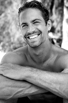~Paul Walker, actor smiling.  He was an exceptional man, whose smile delivered uplifting joy when you saw him.