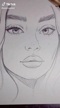 Girl Drawing Sketches, Art Drawings Sketches Simple, Pencil Art Drawings, Cool Drawings, Sketch Art, Desenho Pop Art, Art Drawings Beautiful, Drawing People, Art Sketchbook