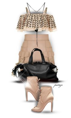"""Safari Skirt"" by rockreborn ❤ liked on Polyvore featuring Balmain, Dolce&Gabbana, Temperley London, Reed Krakoff, BCBGeneration, Glitzy Rocks and Gianvito Rossi"