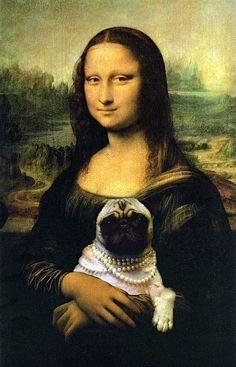 Pug in the history. by Leonardo D Vinci. lol