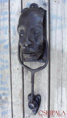 Knocker from Finnish blacksmith Jesse Sippola. Door Knocker from Finnish blacksmith Jesse Sippola.