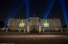 A spectacle of projections lights up Buckingham Palace last night in a tribute to all the competitiors taking part  in the inaugral Invictus games