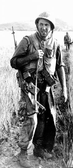 Marine with M14 in Vietnam cor a 1965-66