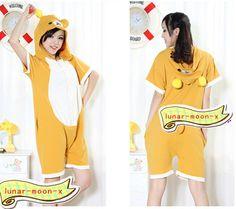 Rilakkuma Summer KIGURUMI Pajamas Cosplay Costume Clothing Unisex Size s M L | eBay Summer Pajamas, Rilakkuma, Kawaii Clothes, Kawaii Fashion, Cosplay Costumes, Kawaii Style, Unisex, Hoodies, Cute