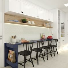 Kitchen Nook, Kitchen Decor, Interior Design Kitchen, Cool Kitchens, Kitchen Remodel, Sweet Home, Decoration, Table, House