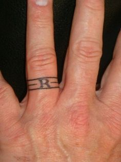 Tattoo wedding band