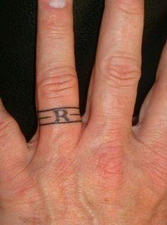 Tattoo wedding band