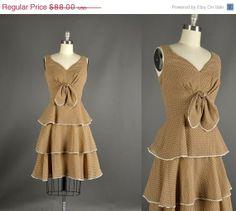 20 Off SALE 1960s Dress / polka dot day dress / by NodtoModvintage, $70.40