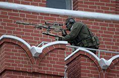 Spetsnaz sniper above the Kremlin, overlooking 9th May parade